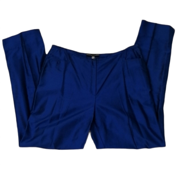 Escada Sport Silk Blue Women Pants Sz 40 U…